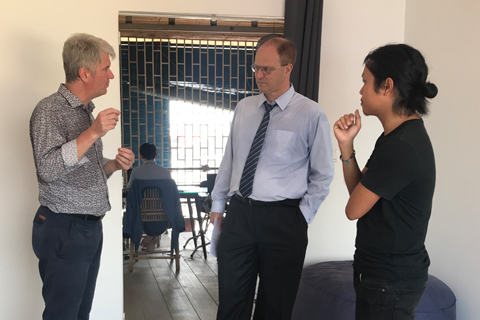 visit of the german ambassador to the SEAM space phnom penh
