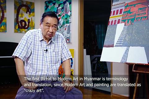interview with the myanmar artist u win pe
